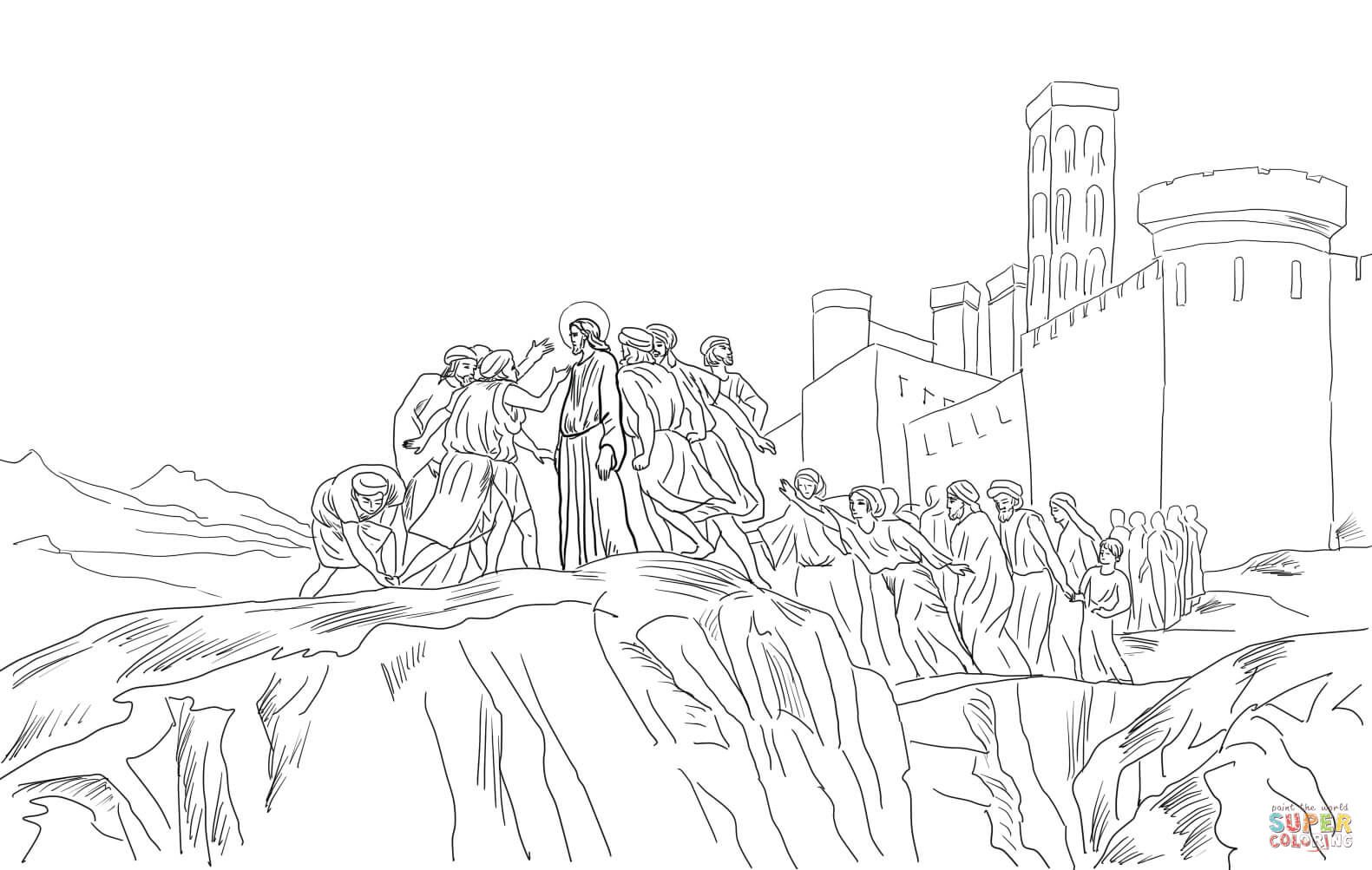 Jesus Our Teacher Jesus Is Rejected In His Hometown Christian Best Colourin Fantastic Cities Coloring Book Detailed Coloring Pages Mothers Day Coloring Pages