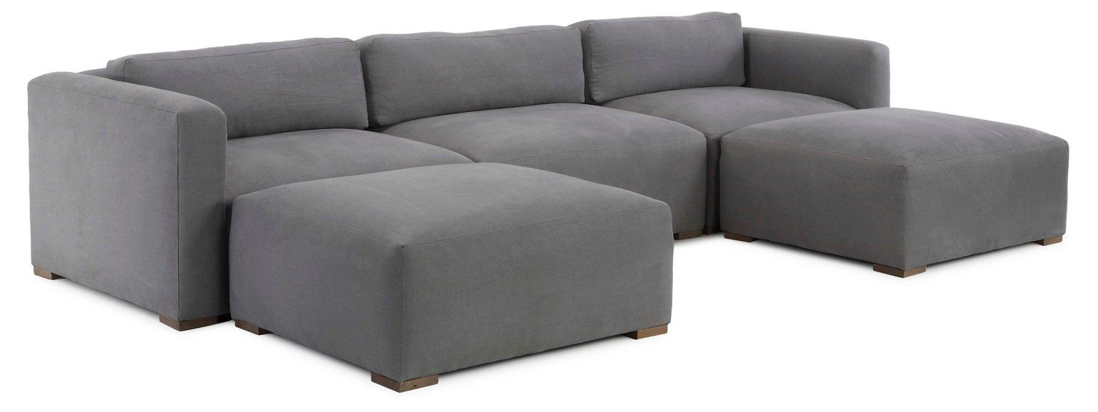 Cooper Sectional Gray Linen Sofas Sectionals Furniture