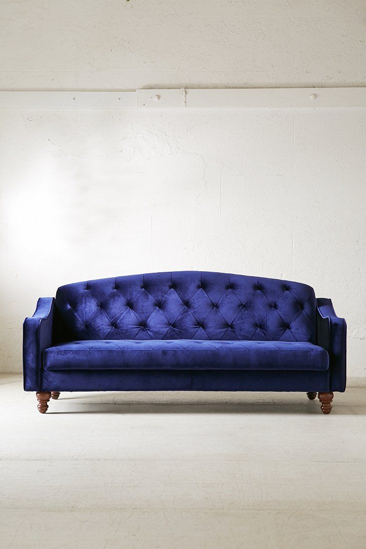 Charmant Ava Velvet Tufted Sleeper Sofa   Urban Outfitters