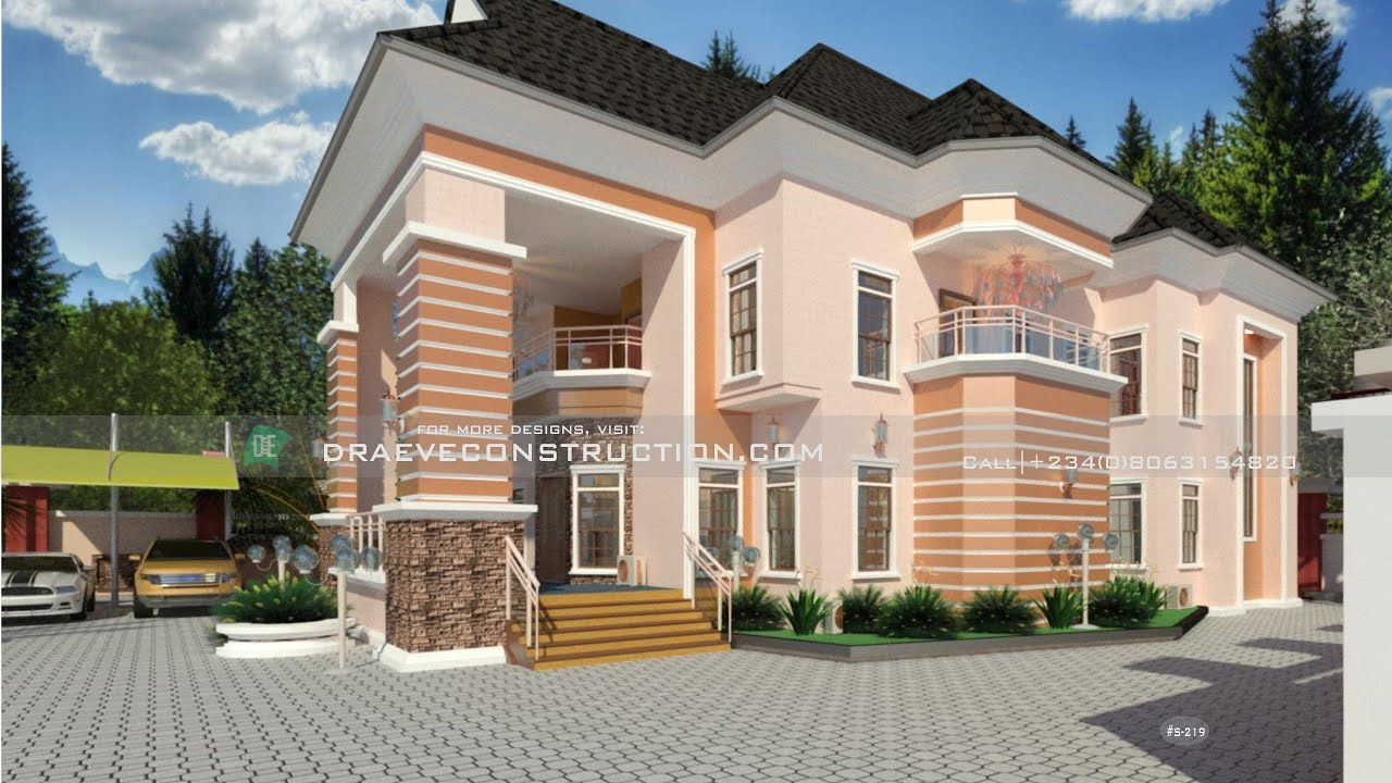 Luxury 6 Bedroom Duplex Houseplan Design In Nigeria In 2021 Duplex Design Duplex House Plans Duplex House