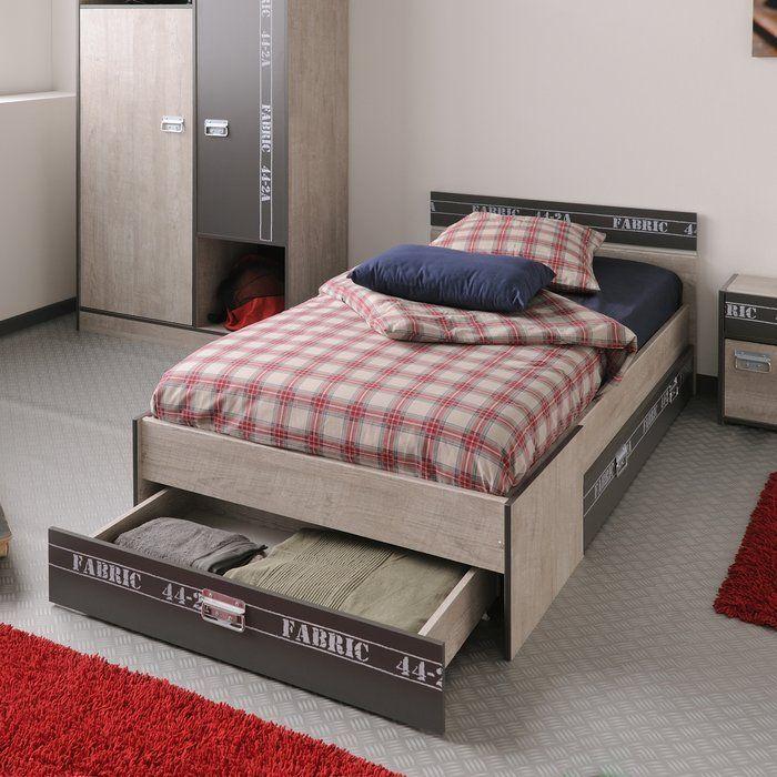 Joyce Twin Platform Bed with Drawer (mit Bildern) Bett