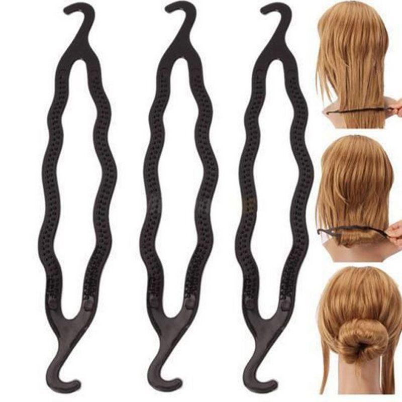 1 Unids Caliente Nueva Magia Braiders Clip Braid Hair Styling Herramientas DIY Peinado de Peluquería Profesional Accesorios Barrette Negro