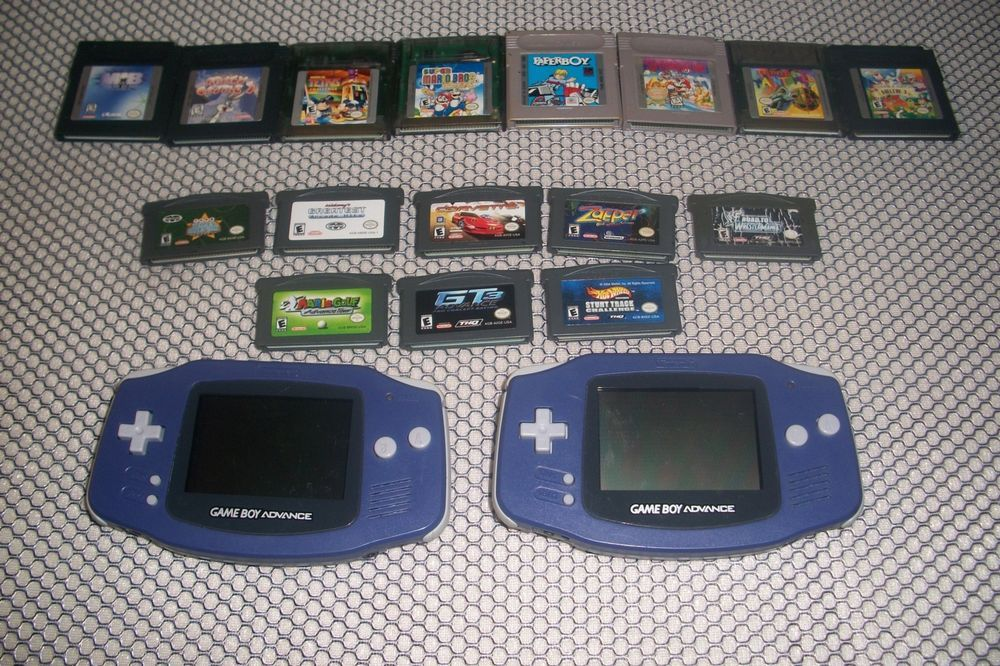 1  Nintendo Gameboy Advance SP UsedRed Game boy Advance 2 Blue and grey #1A #Nintendo