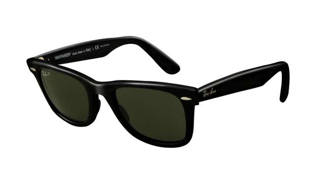 75cec2380 Ray Ban RB2140 Wayfarer Sunglasses Black Frame Crystal Green Pol ...