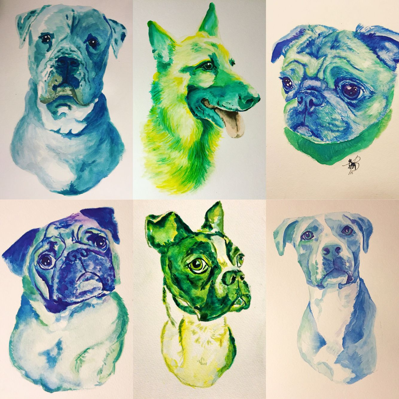 Beautiful custom watercolors of your dog painted by Avri Michelle.   avrimichelle.bigcartel.com @avrimichelle