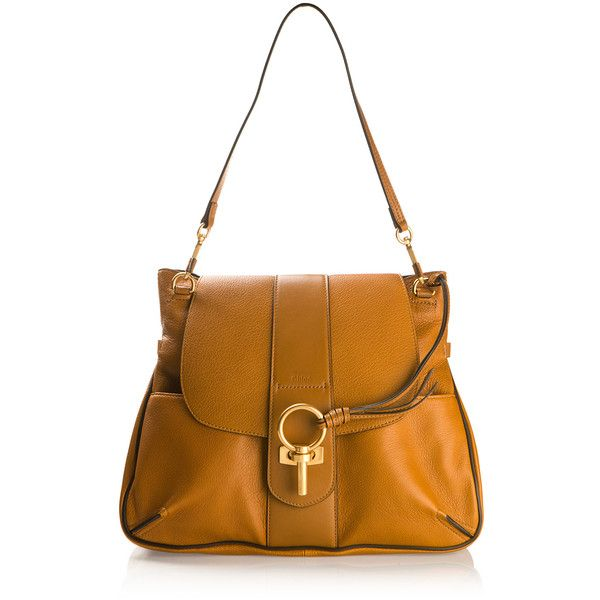 Chloé Camel Buckskin And Leather Lexa Bag ($1,730) ❤ liked on Polyvore featuring bags, handbags, shoulder bags, leather handbags, chloe shoulder bag, white leather shoulder bag, genuine leather handbags and genuine leather shoulder bag