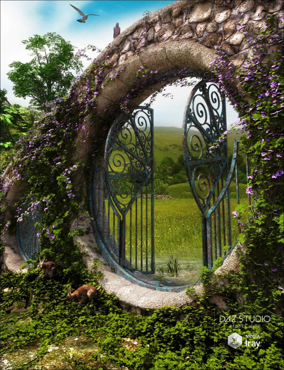 Portals - The Shire | DAZ | Portal, Outdoor structures, Arch