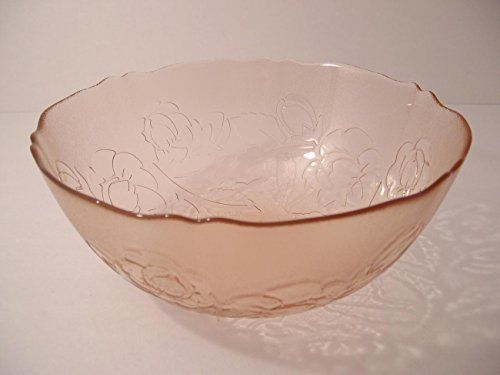 French antique pink glass Set of 5 bowls
