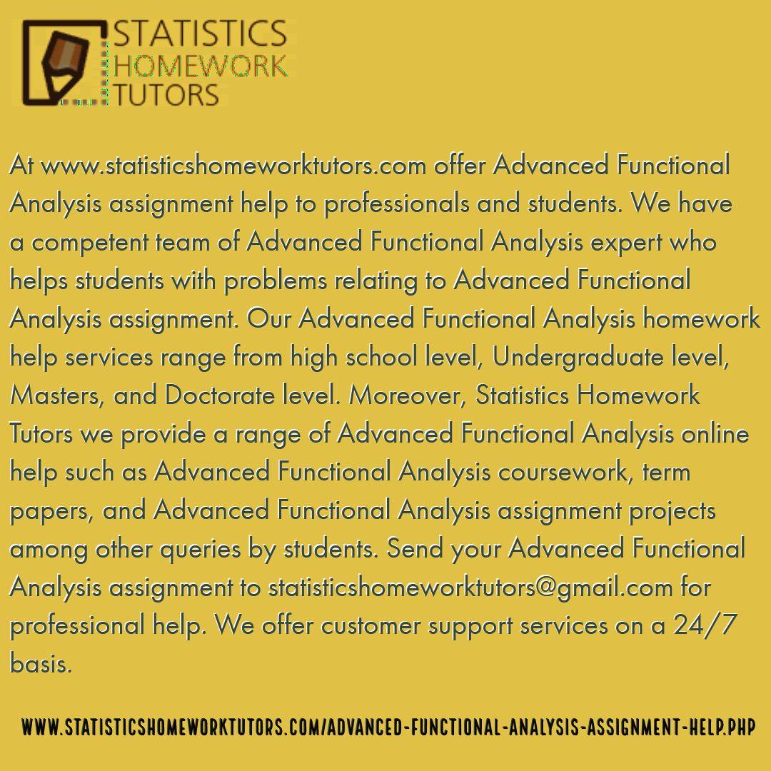 Statistical analysis homework help