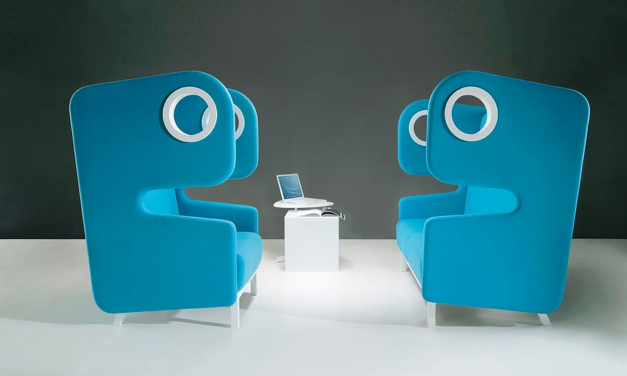 Packman High Back Soft Seating - Product Page: http://www.genesys-uk.com/Packman-High-Back-Soft-Seating.Html  Genesys Office Furniture Homepage: http://www.genesys-uk.com  Packman High Back Soft Seating adds an element of fun to any workplace, with it's unique contemporary design.