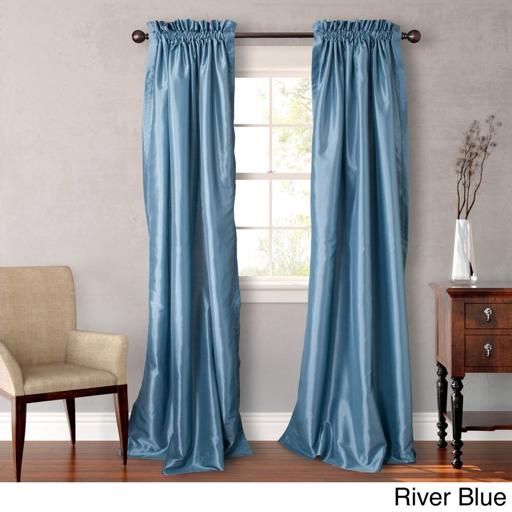Heritage landing inch faux silk lined curtain pair by heritage