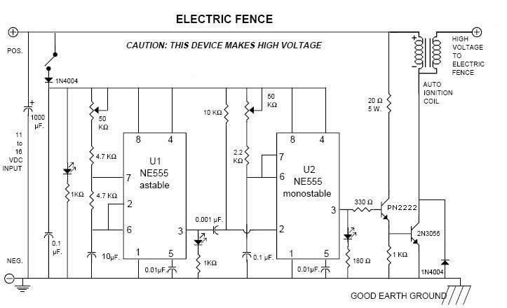 Circuito Para Cerca Electrica Tecnicos Del Ecuador Proyectos Electronicos Circuito Electricidad Y Electronica
