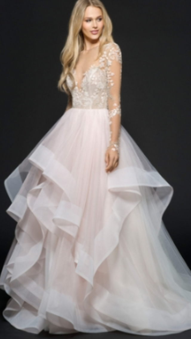 Kleinfield Dresses Blush And Off White