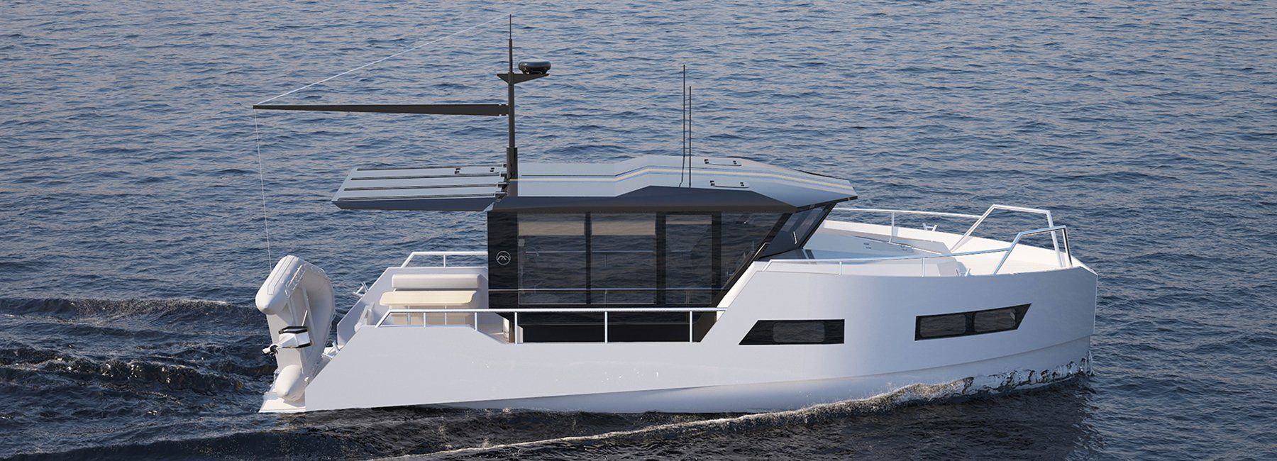 Vik Unveils Electric Boat That Can Be Recharged From Solar Panels Or Wind Power Electric Boat Boat Yacht Design