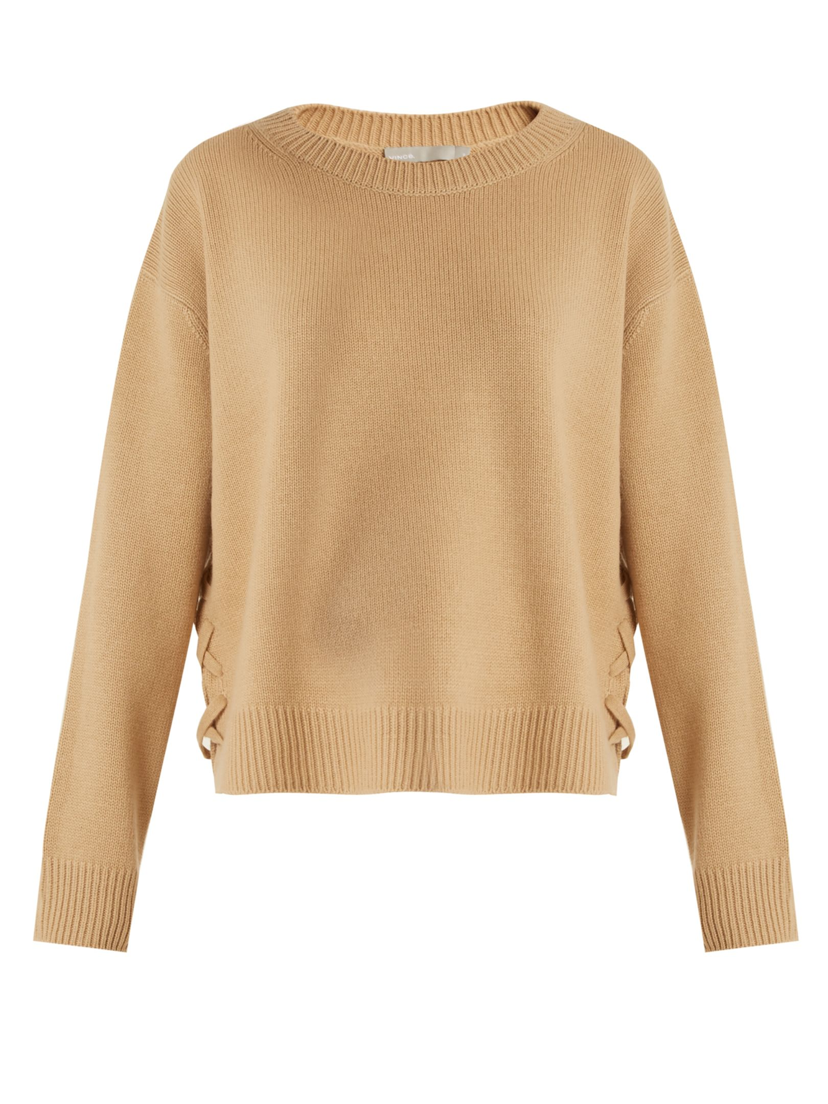 Click here to buy Vince Lace-up side cashmere sweater at ...