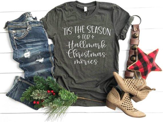 Hallmark Christmas Shirt.Tis The Season For Hallmark Christmas Movies Cute Winter