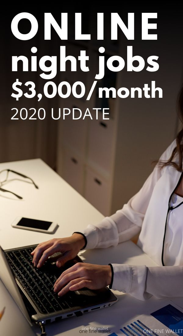 Work from Home Night Jobs that Pay Well