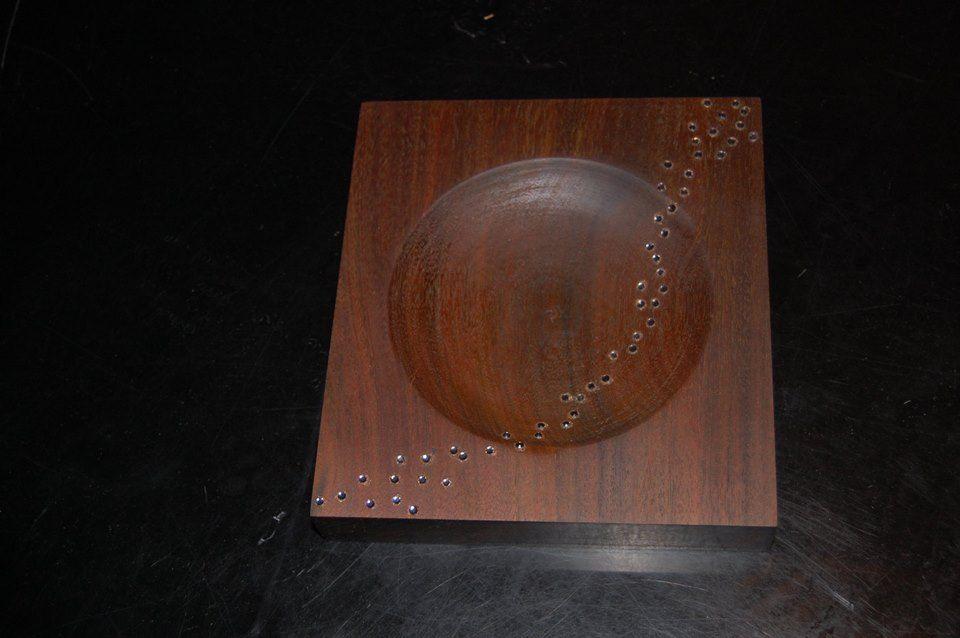 La mia Geometria Stellare in legno e Swarovski
