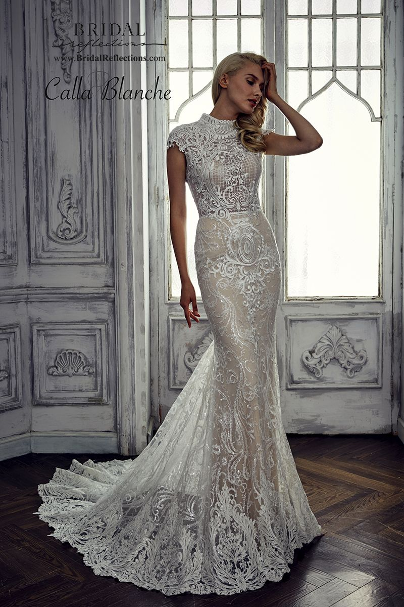 Calla blanche wedding dress collection bridal reflections