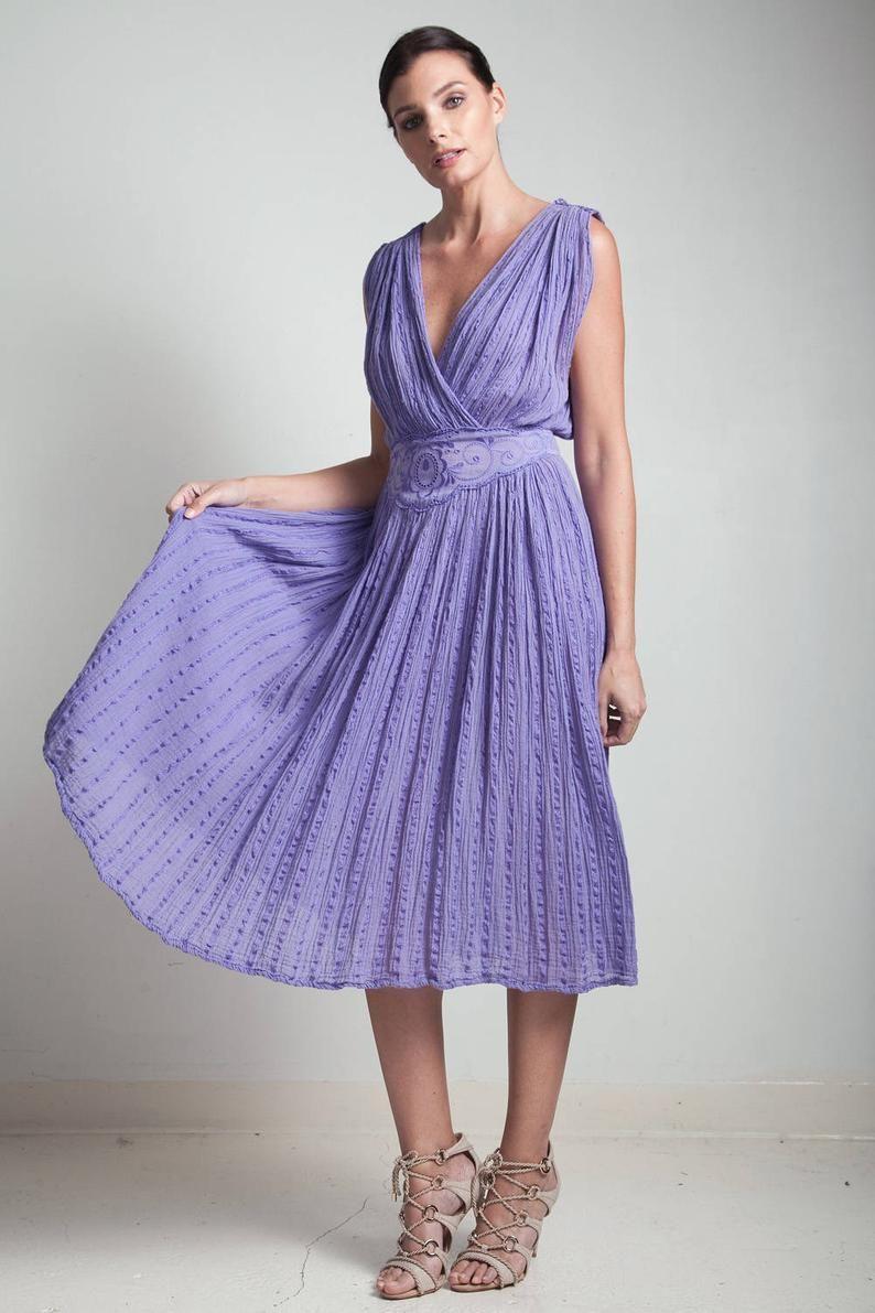 70s Vintage Purple Dress Crinkle Gauzy Cotton Plunging V Neck Etsy Vintage Purple Dress Textured Fabric Dress Dresses [ 1191 x 794 Pixel ]