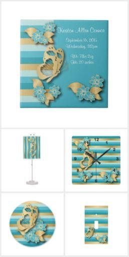 Elegant Baby Boy Nursery: Elegant Blue And Gold Stripe Nursery
