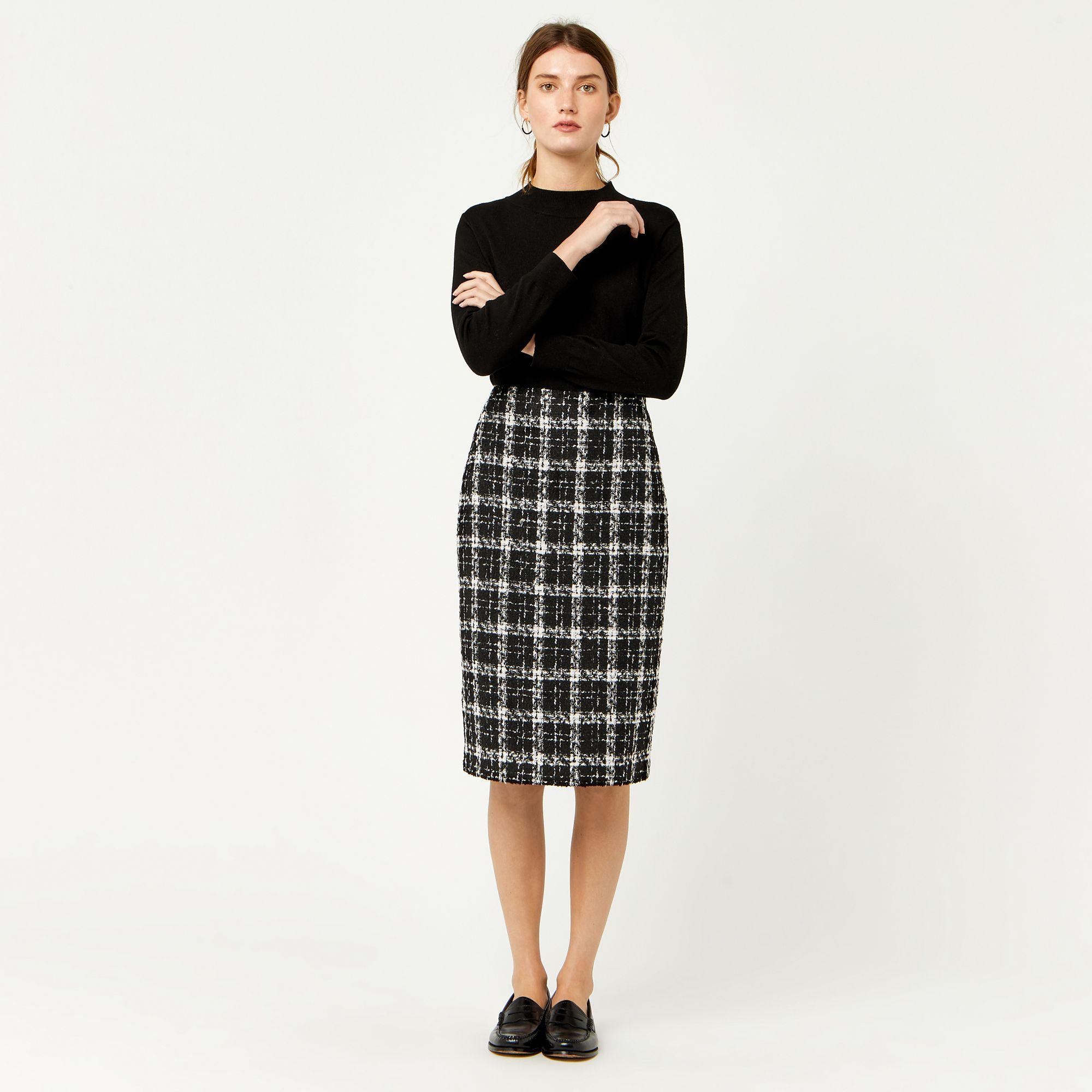 fdbb6c83900270 Warehouse, TWEED CHECK PENCIL SKIRT Multi 1 Plaid Pencil Skirt, Pencil Skirt  Outfits,