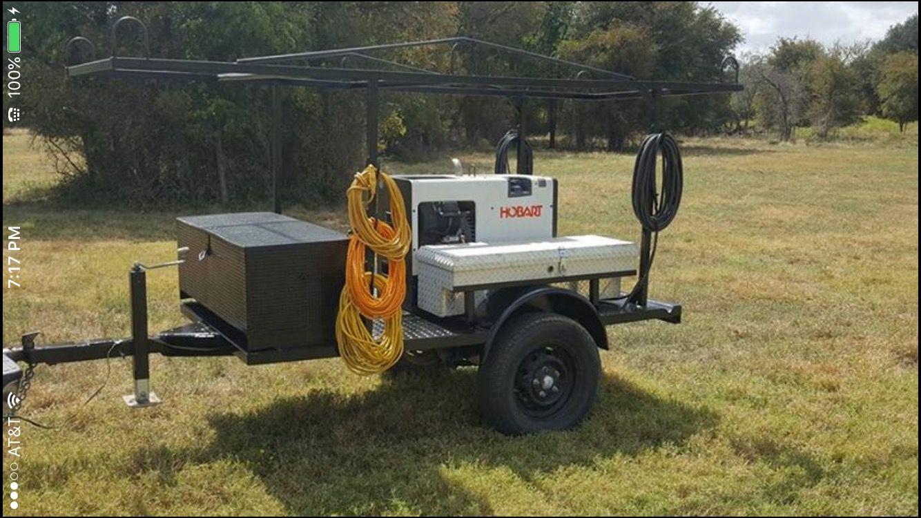 Welding trailer Hobart Welding trailer, Welding rigs