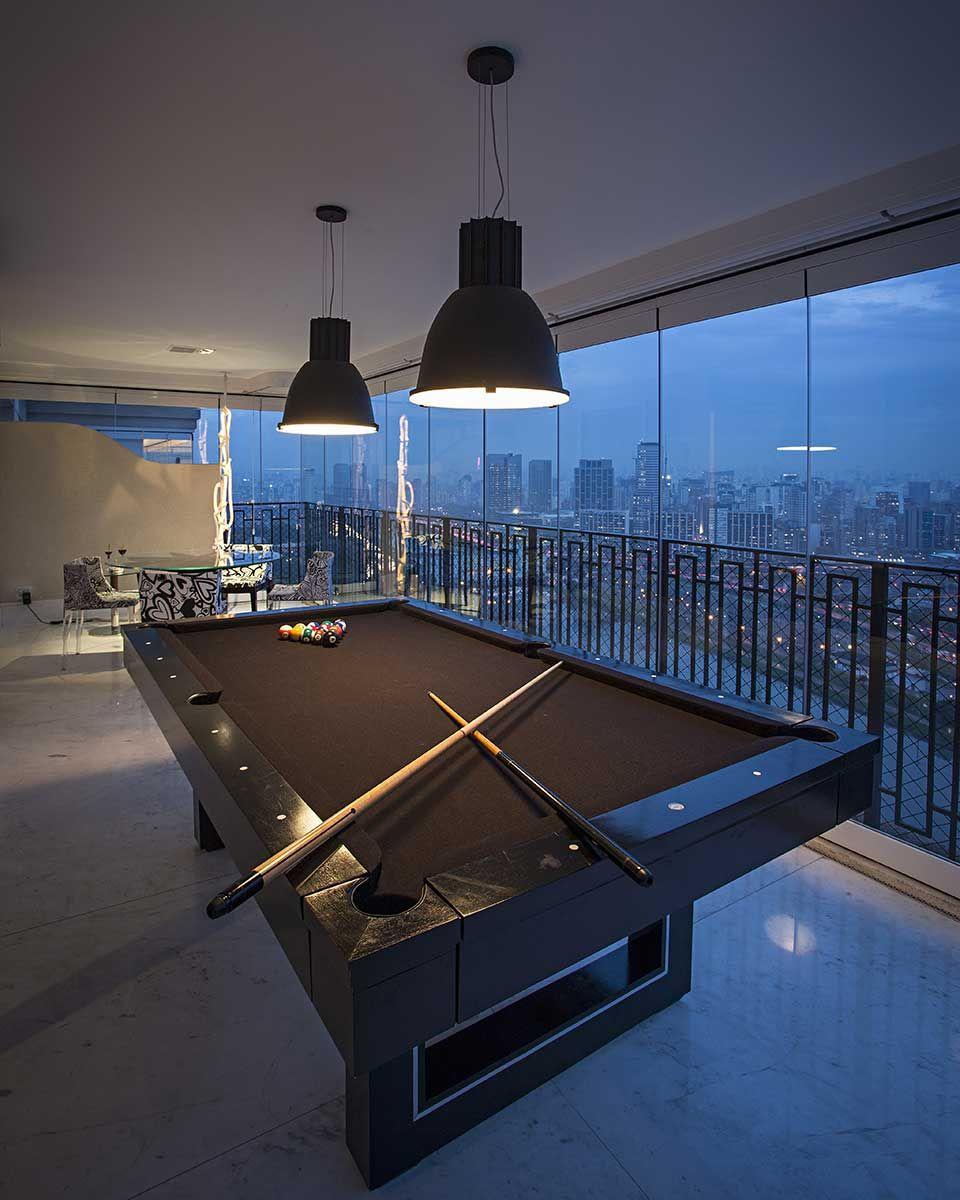 Contempor neo com design moderno em 2020 sala de bilhar for Sala design moderno