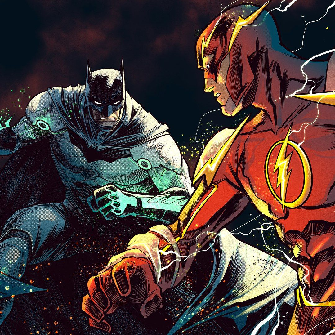 Image result for batman vs flash