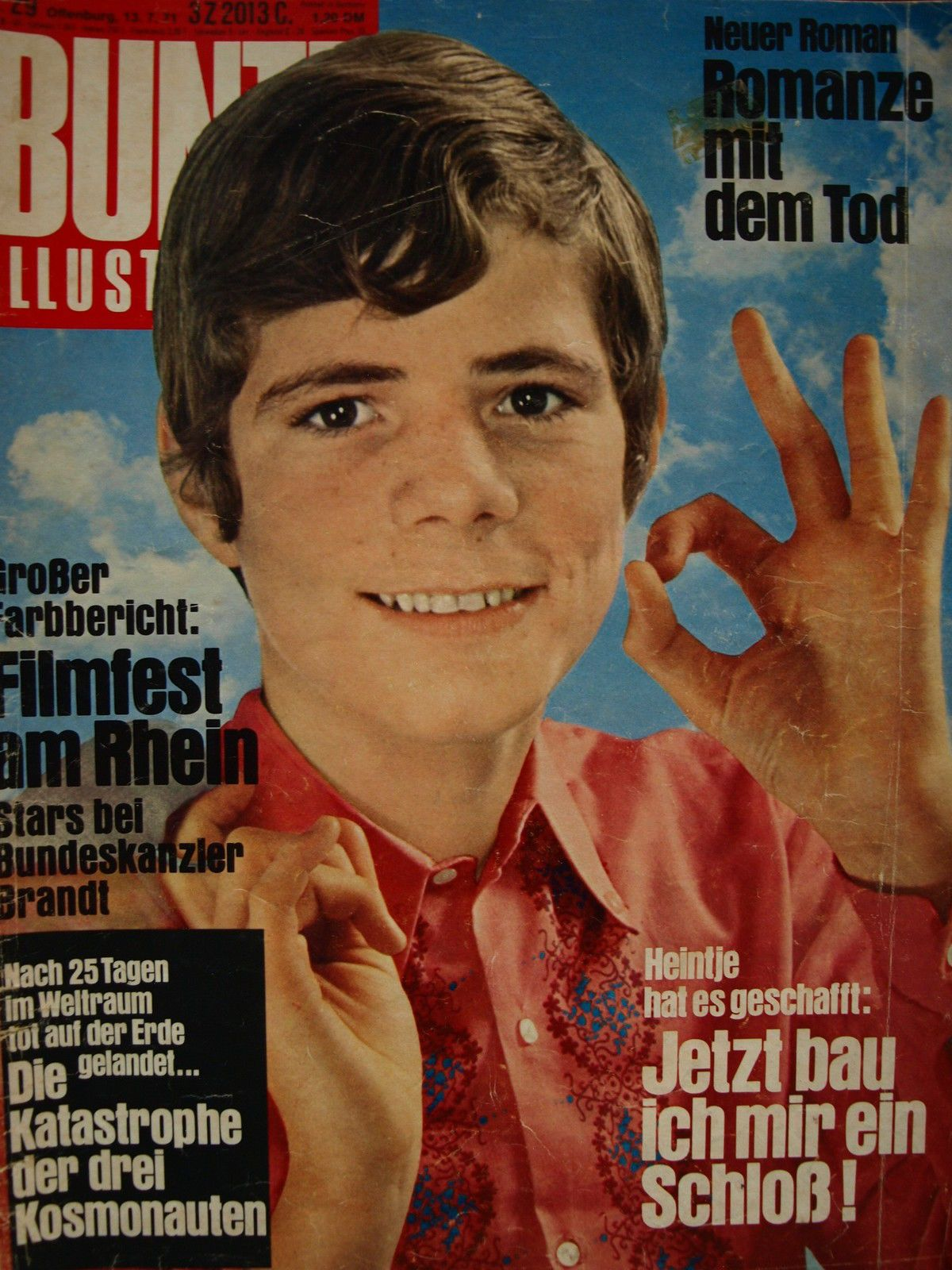 Bunte Nr 29 Von 1971 Heintje Do You Remember Movies Remember