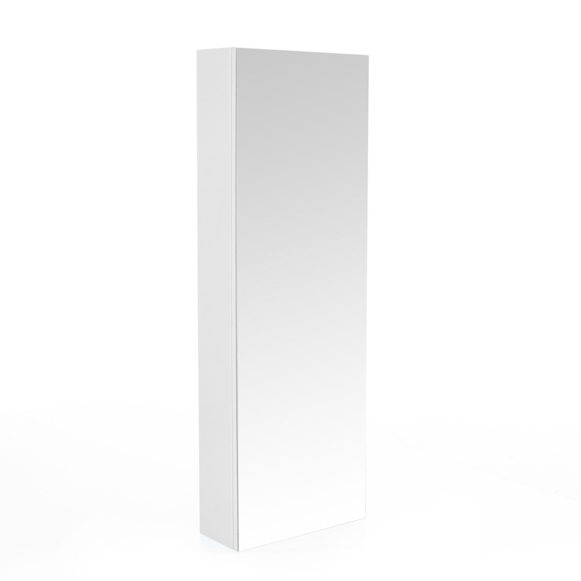 Colonne De Salle De Bains Avec Miroir 120cm Blanc Luxy Les