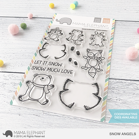 Mama Elephant Snow Angels Clear Stamps Mama Elephant Stamps Mama Elephant Snow Angels