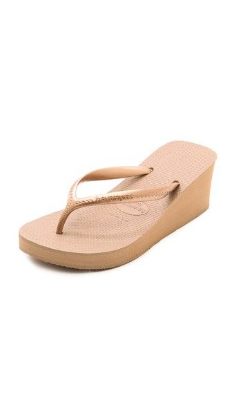 High Fashion Wedge Flip Flops | Wedge flip flops, Black