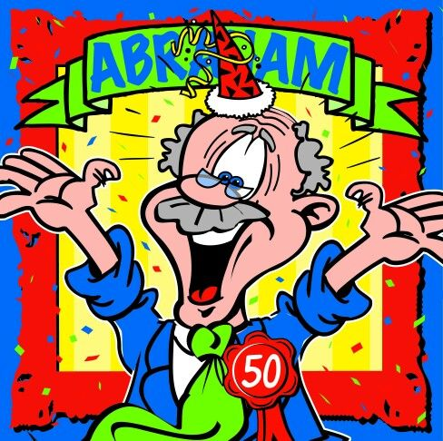 Hedendaags Abraham... 50 | Verjaardag humor, Gefeliciteerd, Verjaardagswensen FW-08