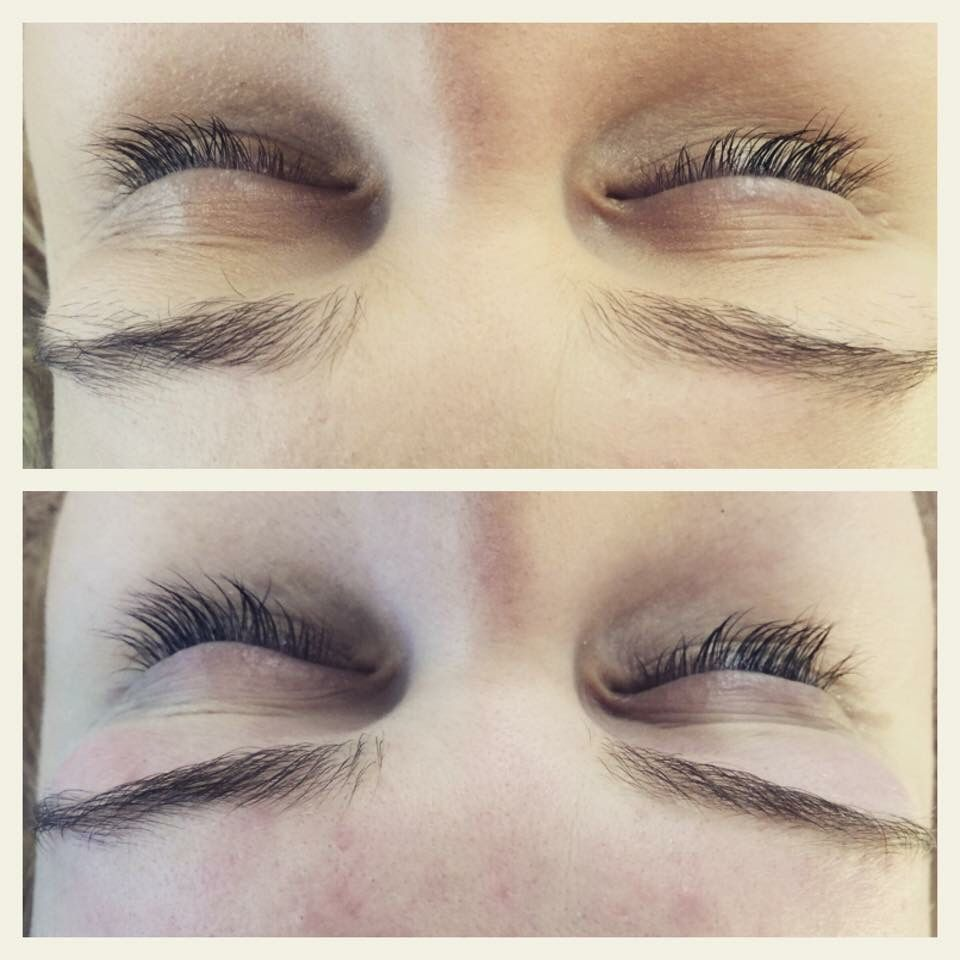 Before & after eyebrow wax tint & eyelash tint | Eyelash ...