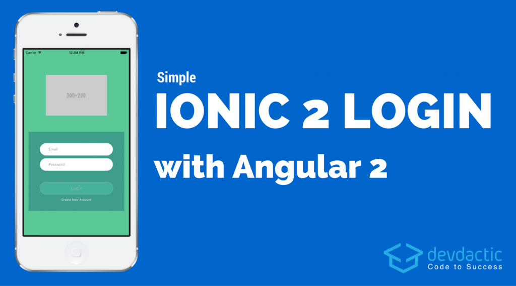 Simple Ionic 2 Login with Angular 2 | Ionic 2 | Simple