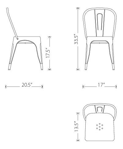 tolix cafe chair pottery barn projects to try pinterest