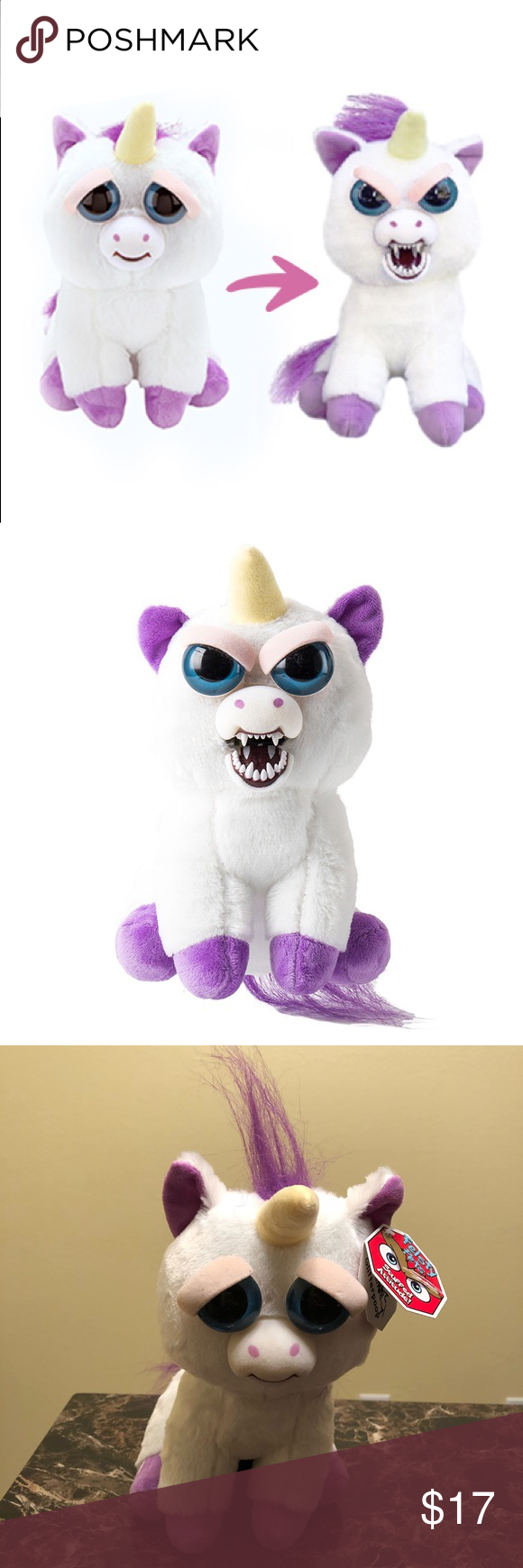 Feisty Pets Glenda Glitterpoop Unicorn Plush Nwt Unicorn Plush Cute Gifts