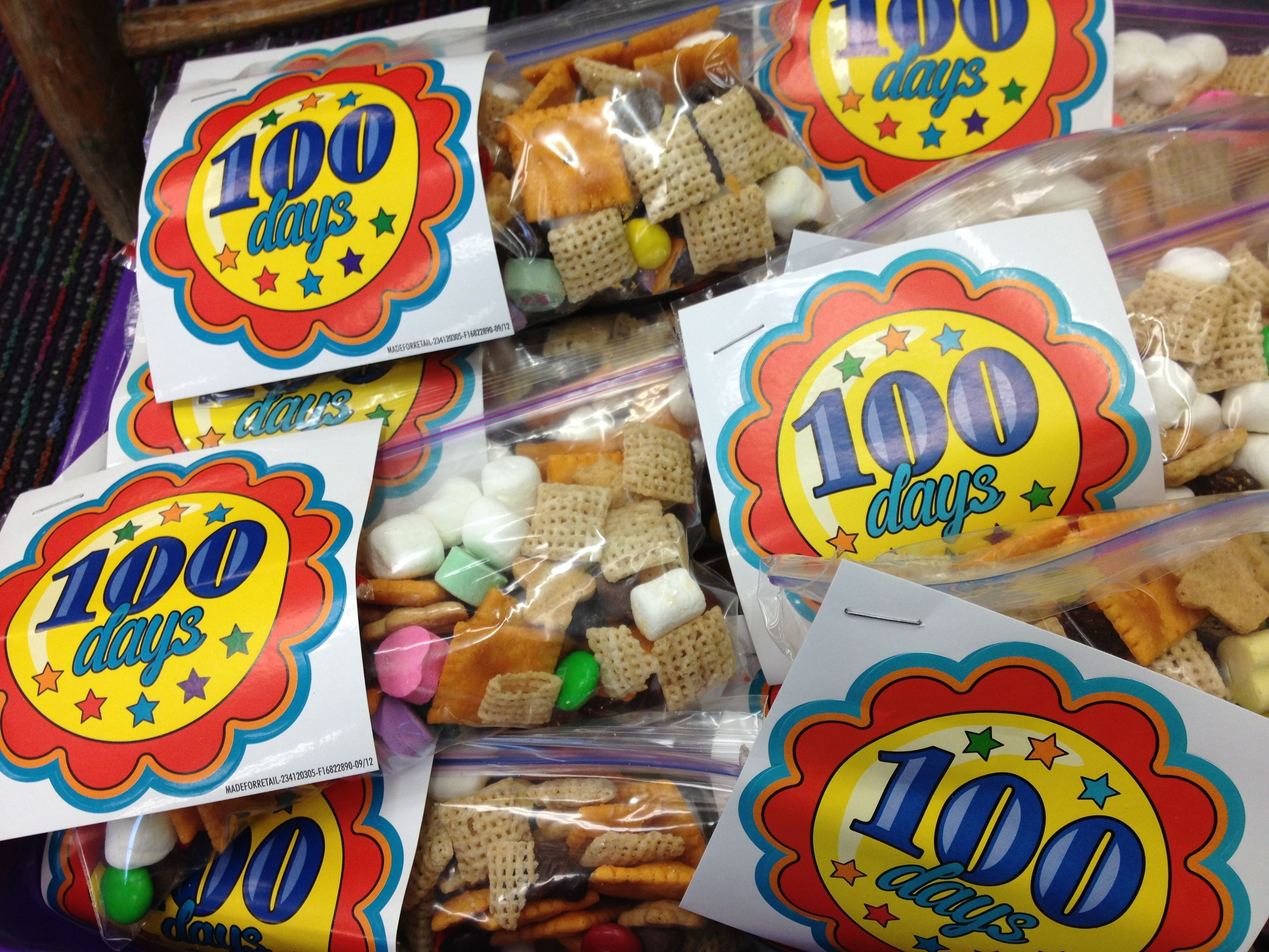 100 Day Trail Mix With Sticker To Use With 100 Day Trail
