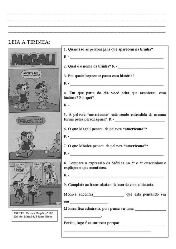 Historia Em Quadrinhos Com Imagens Construcao De Frase