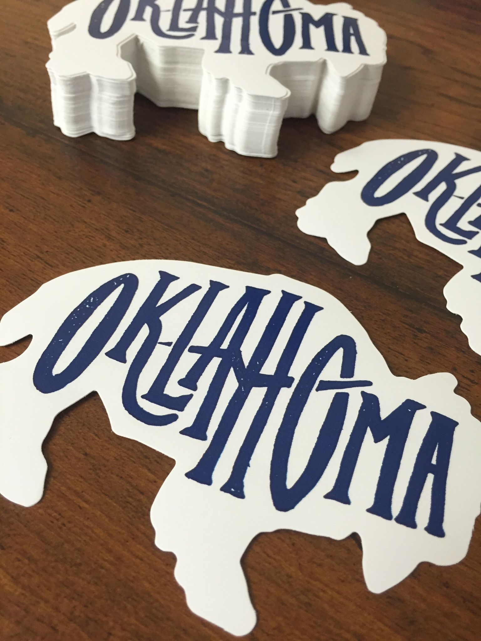 Bison oklahoma decals