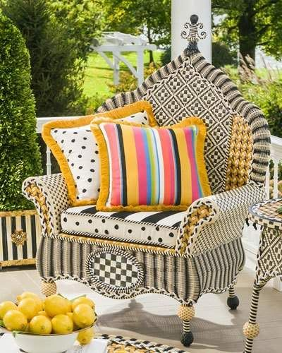 Mackenzie Childs MacKenzie Childs Courtyard Outdoor Wing Chair