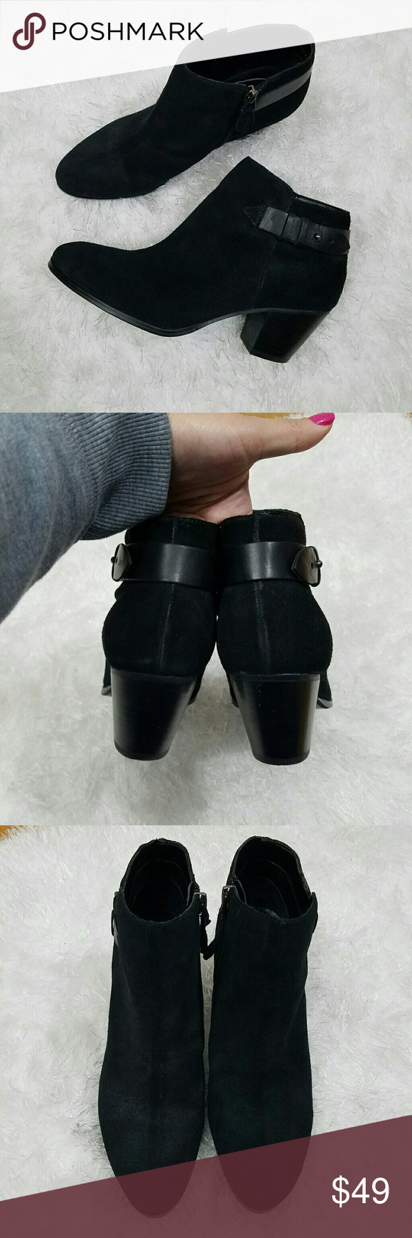 Guess Black Ankle Booties Like New condition  Size 8 Super Gorgeous Guess Shoes Ankle Boots & Booties