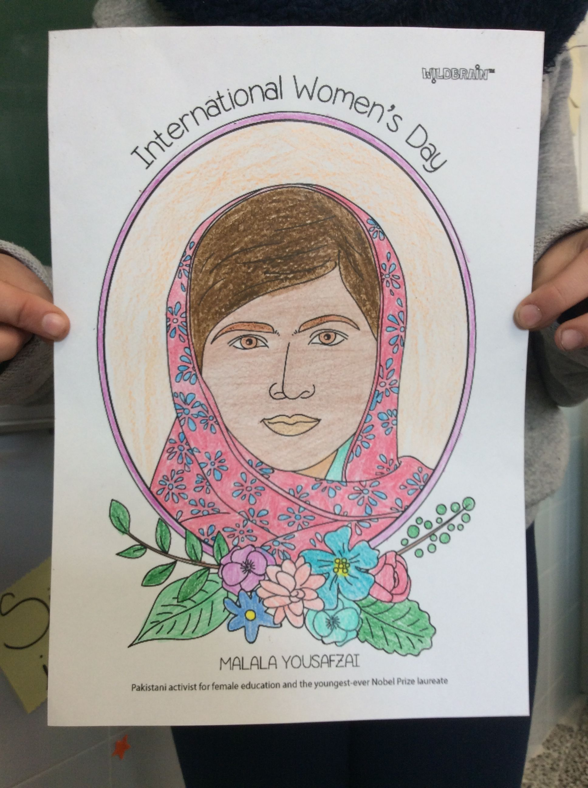 The Amazing Malala Yousafzai Is Coloured In Beautifully By Pupils