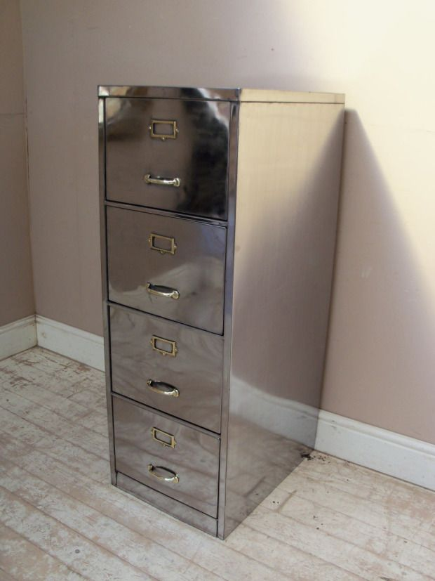 Shiny Polished Filing Cabinet