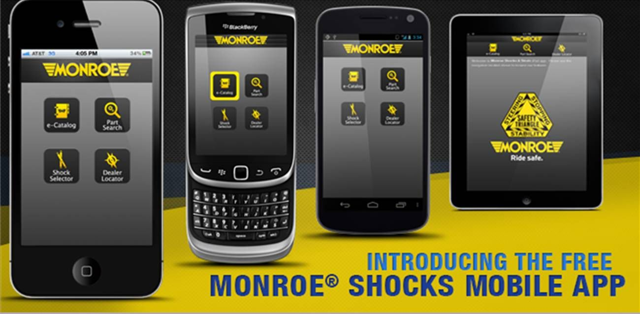 The Monroe® Shocks and Struts smartphone mobile app for