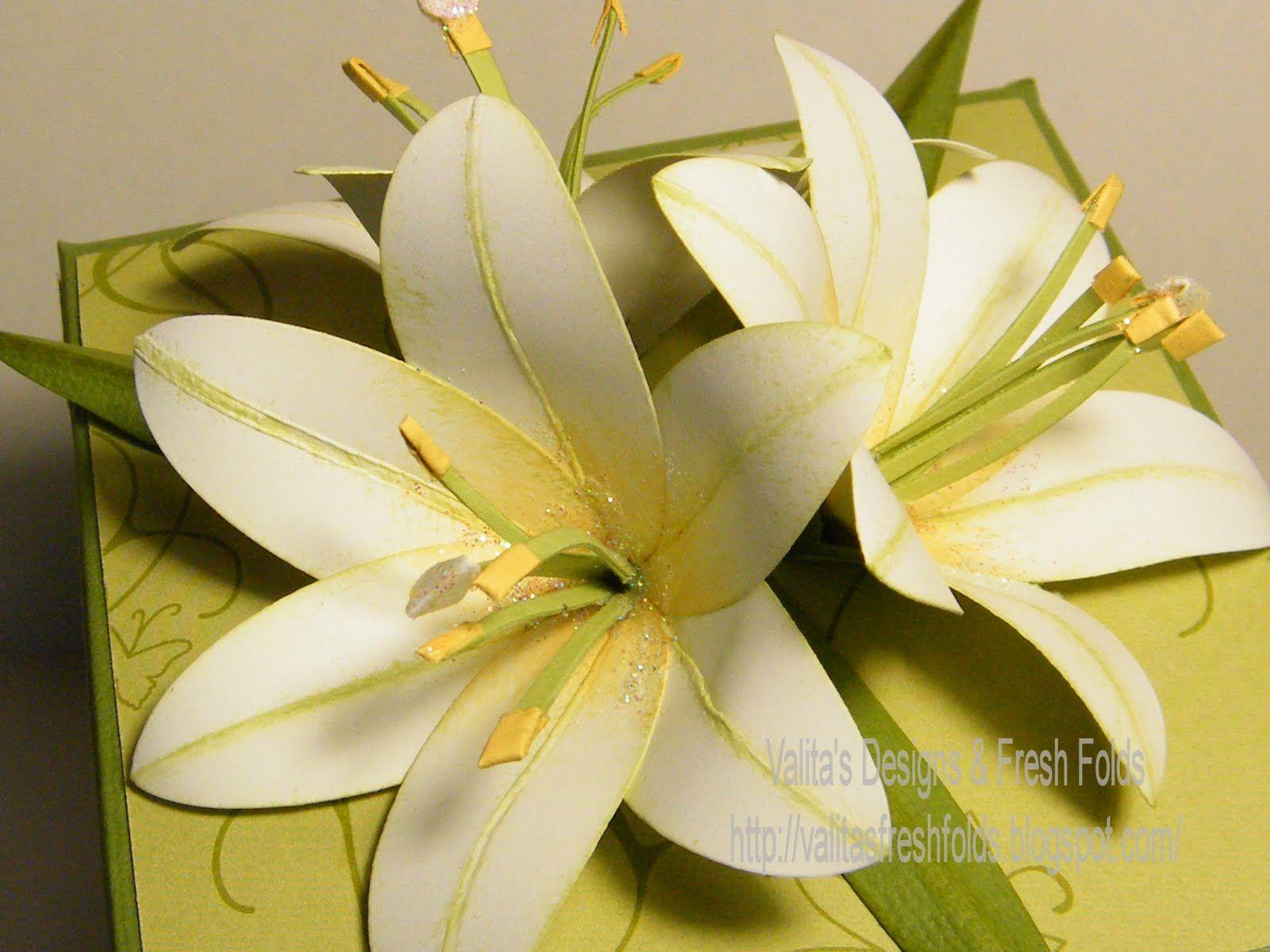 Paper Flower Lily Ukranochi