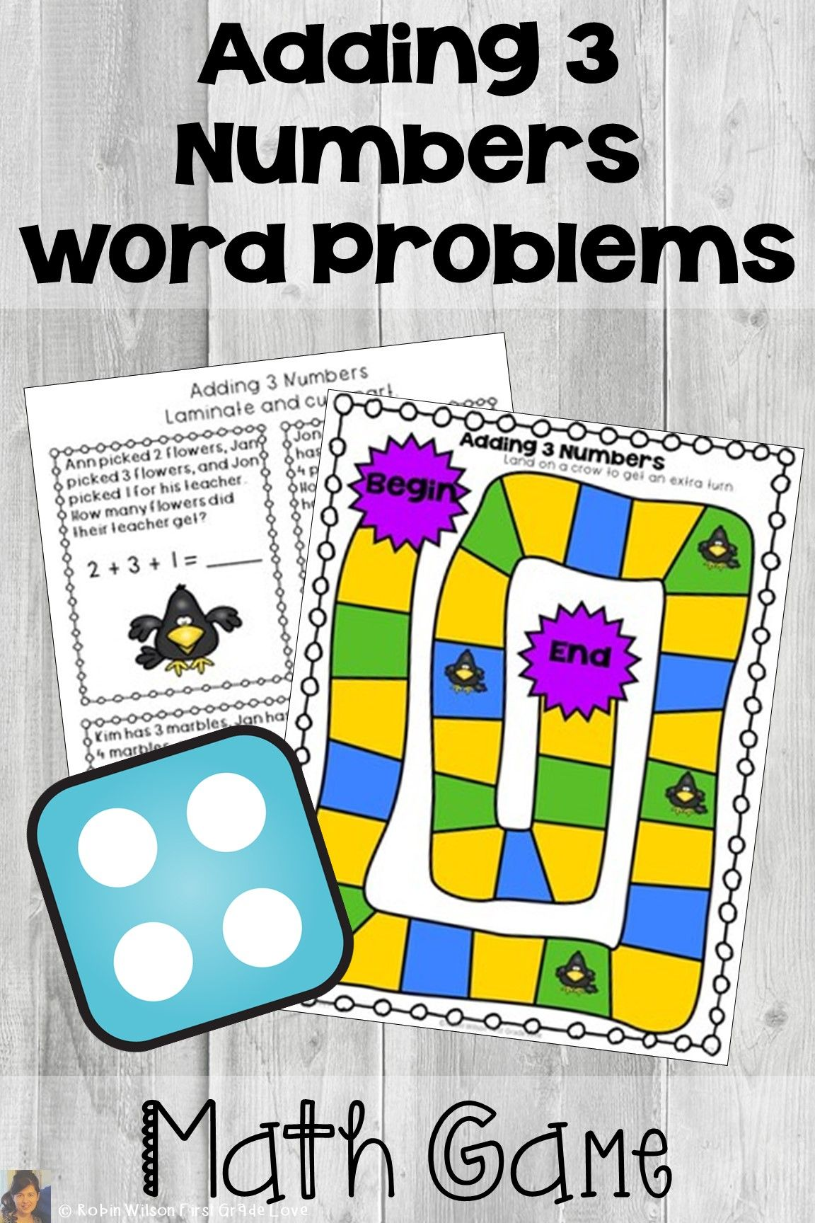 Adding 3 Numbers First Grade Word Problem Games And