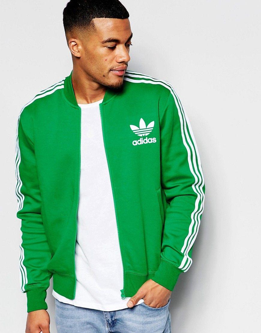 Adidas originals adicolor b10665Clothes in jacket track green kuOPiXZT