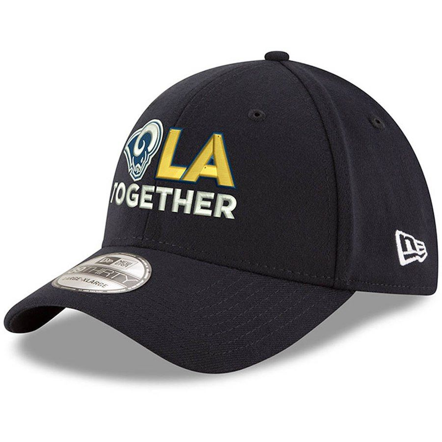 e8dbe7e7b Men s Los Angeles Rams New Era Navy LA Together 39THIRTY Flex Hat ...